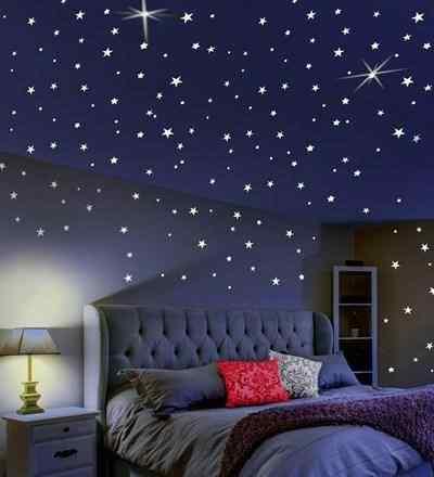 Ay Yıldız Tasarımlı Fosforlu Duvar Süsü