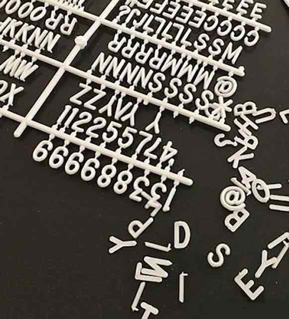 Değiştirilebilir Yazı Panosu Mesaj Tahtası; Pembe; 150 Harf Karakterli