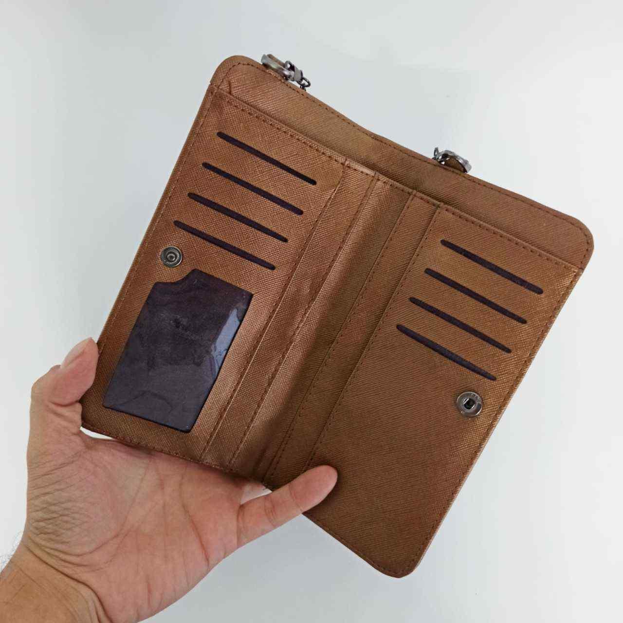 Vizon Kapaklı Telefon Bölmeli Polo Kadın Cüzdanı