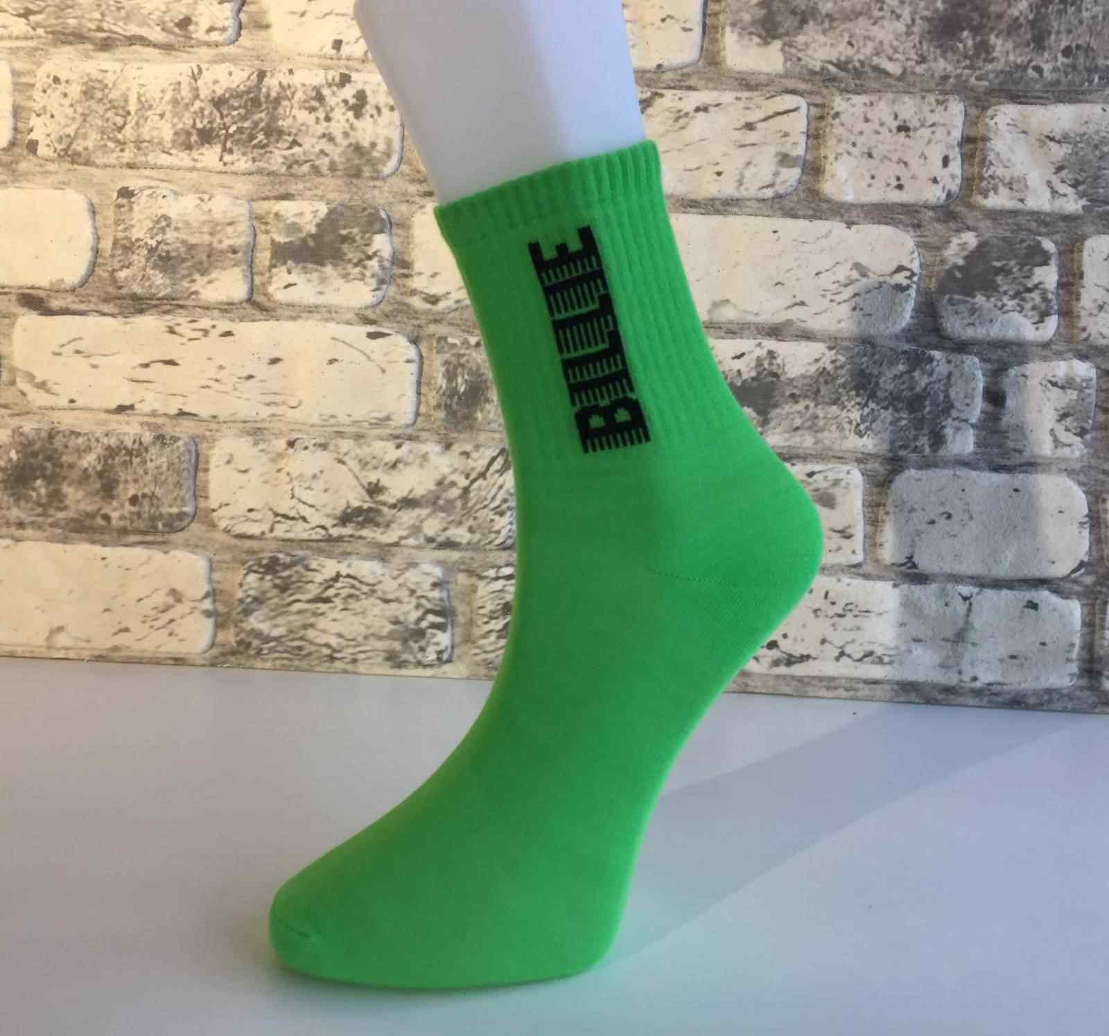 Yeşil Billie Eilish Çorap