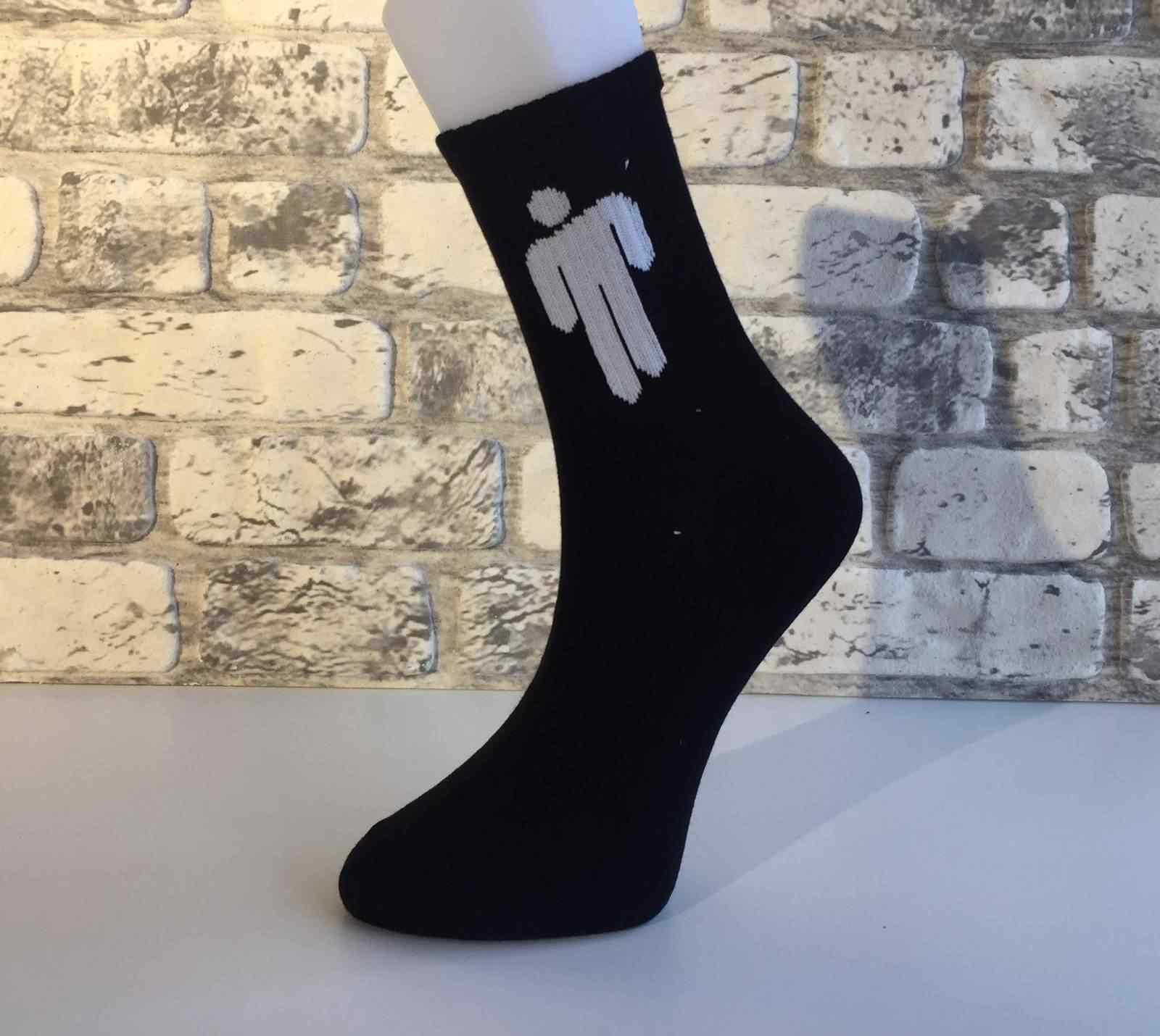 Siyah Billie Eilish Çorap
