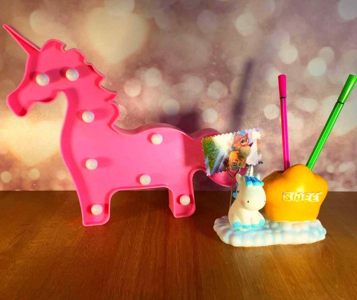 Unicorn Kalemlik Ve Gece Lambası Hediyelik Set