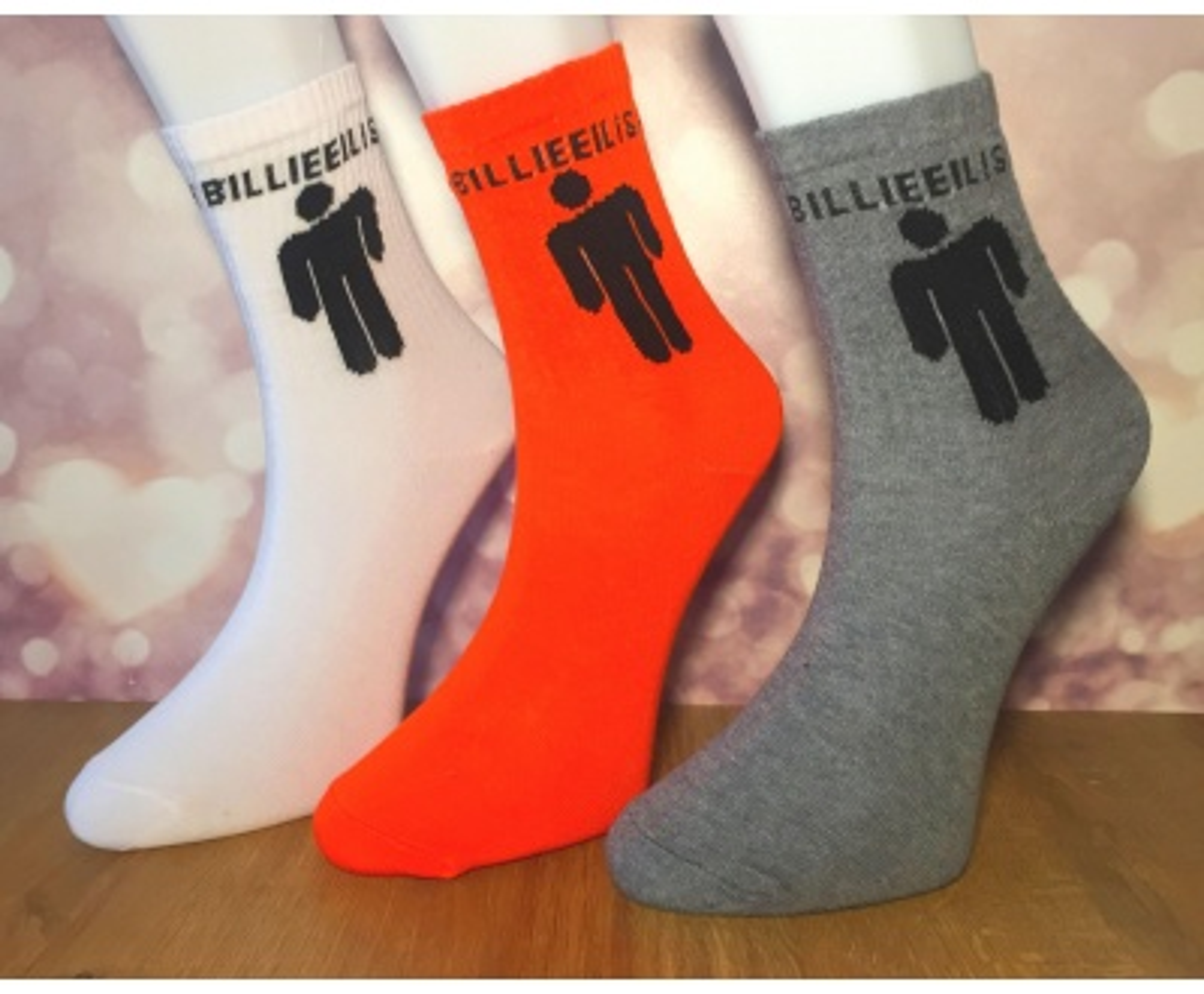 Billie Eilish 3'lü Çorap Hediye Seti