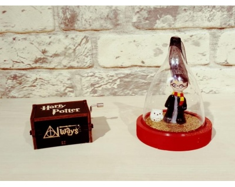 Harry Potter Müzik Kutusu Ve Harry Potter Sihirli Sim Küresi Hediye Seti