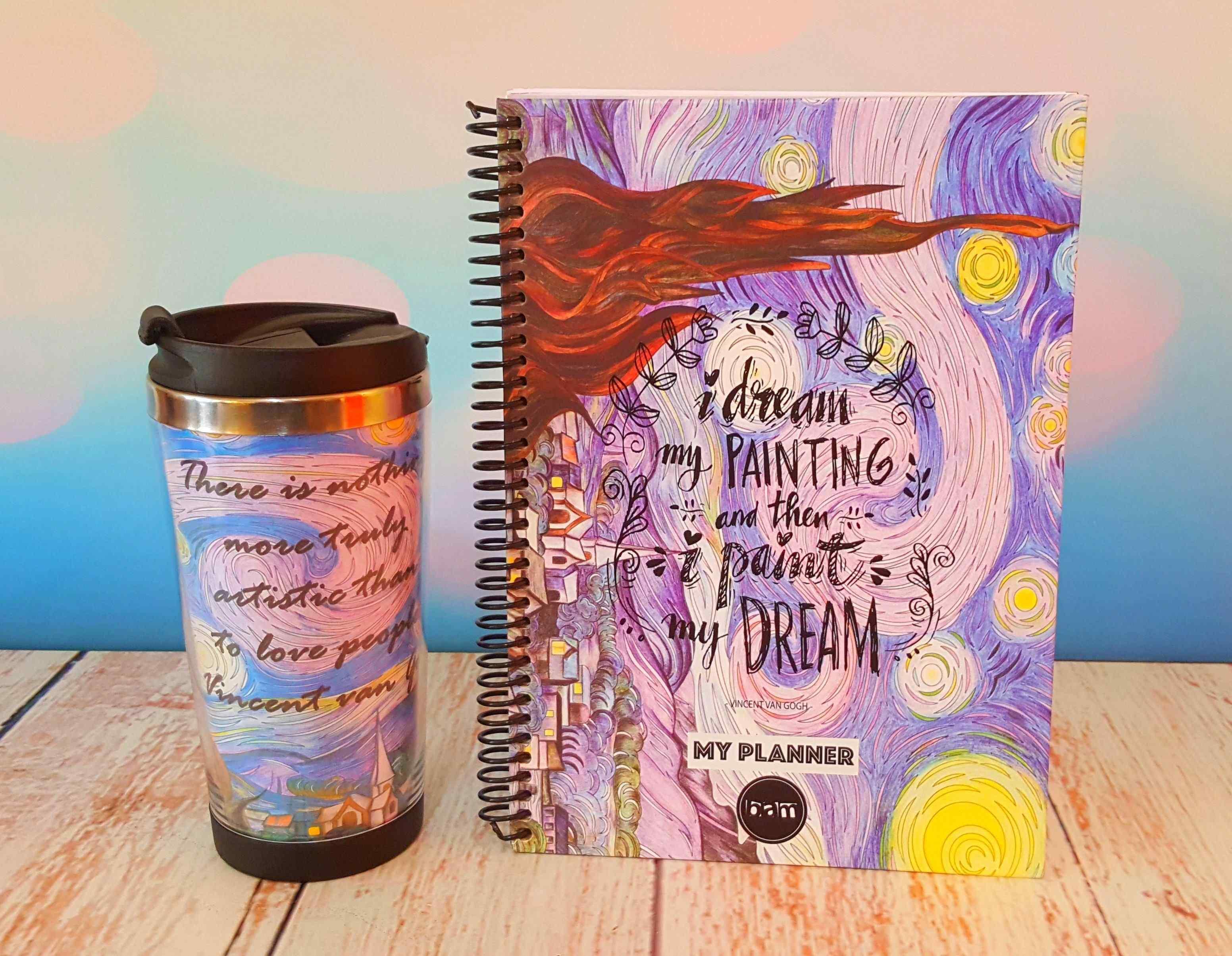 Van Gogh Termos Bardak ve Van Gogh Tarihsiz Haftalık Planlayıcı