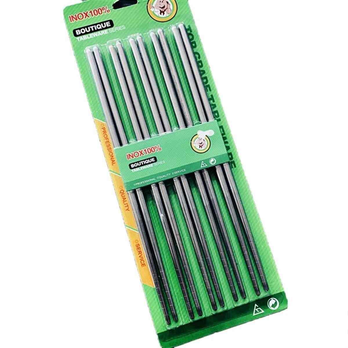 Metal Chopstick 5li Paslanmaz Çelik Çin Çubuğu