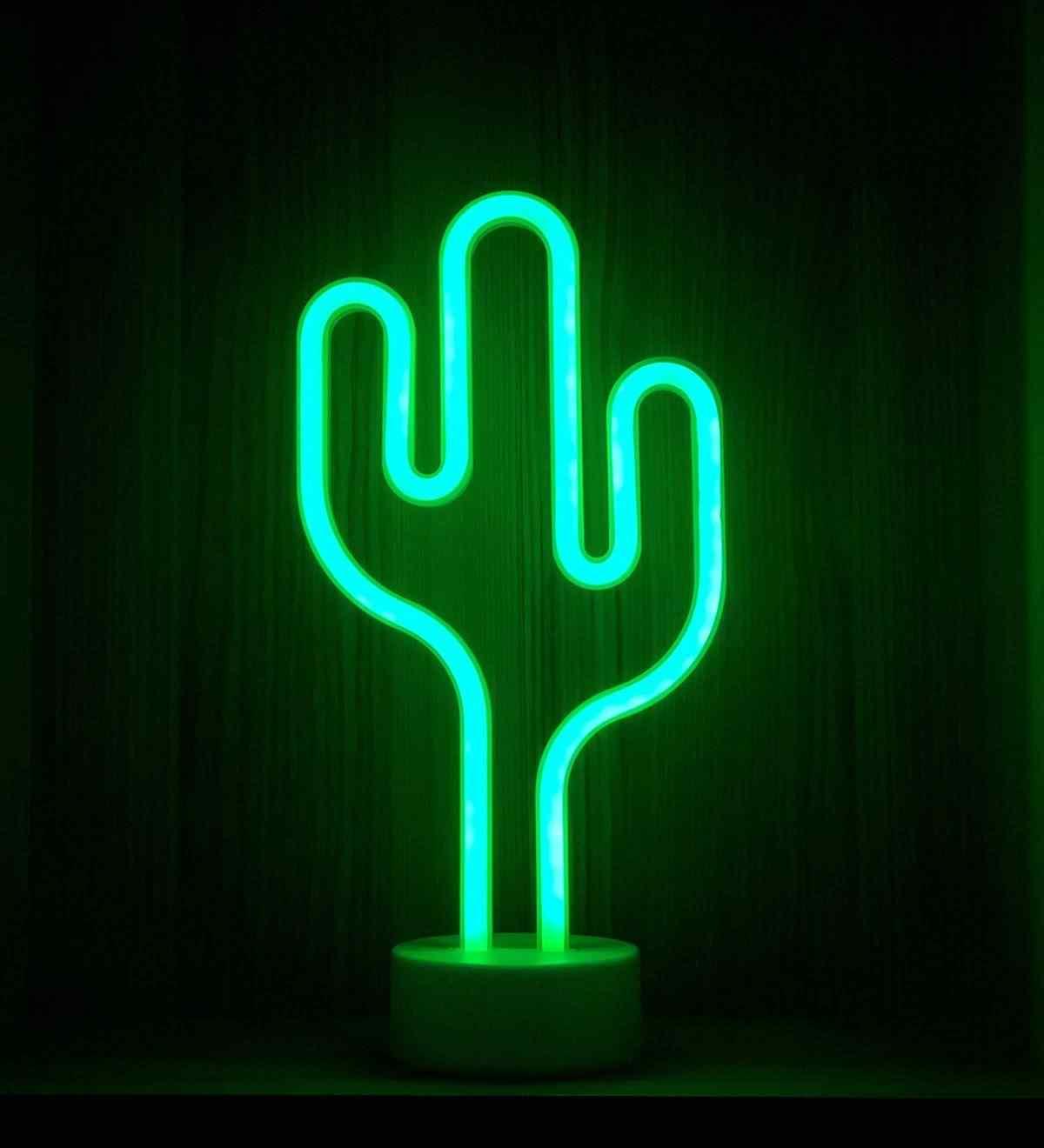 Kaktüs Tasarımlı Neon Lamba