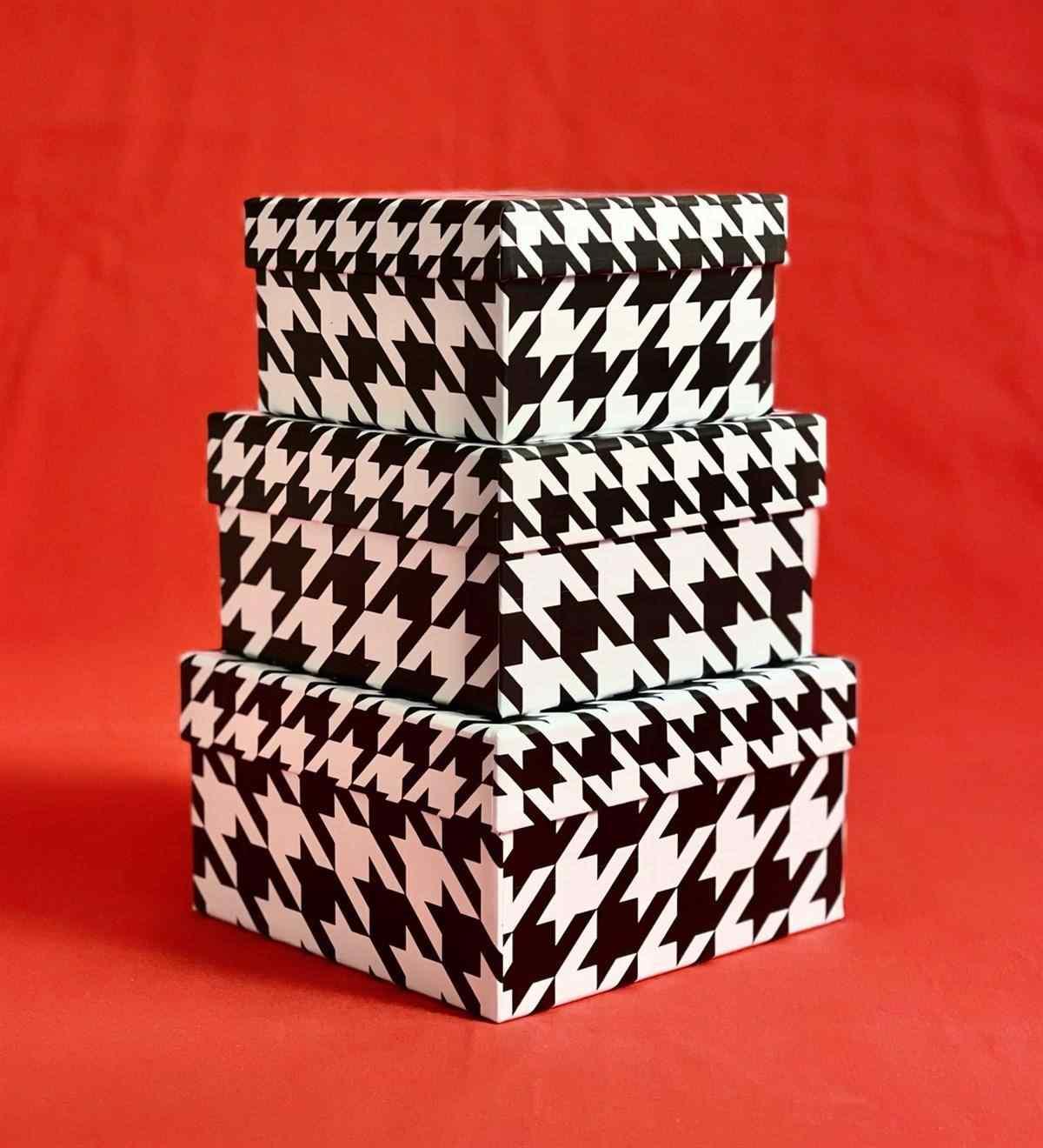 Kaz Ayağı Tasarımlı 3lü Kutu