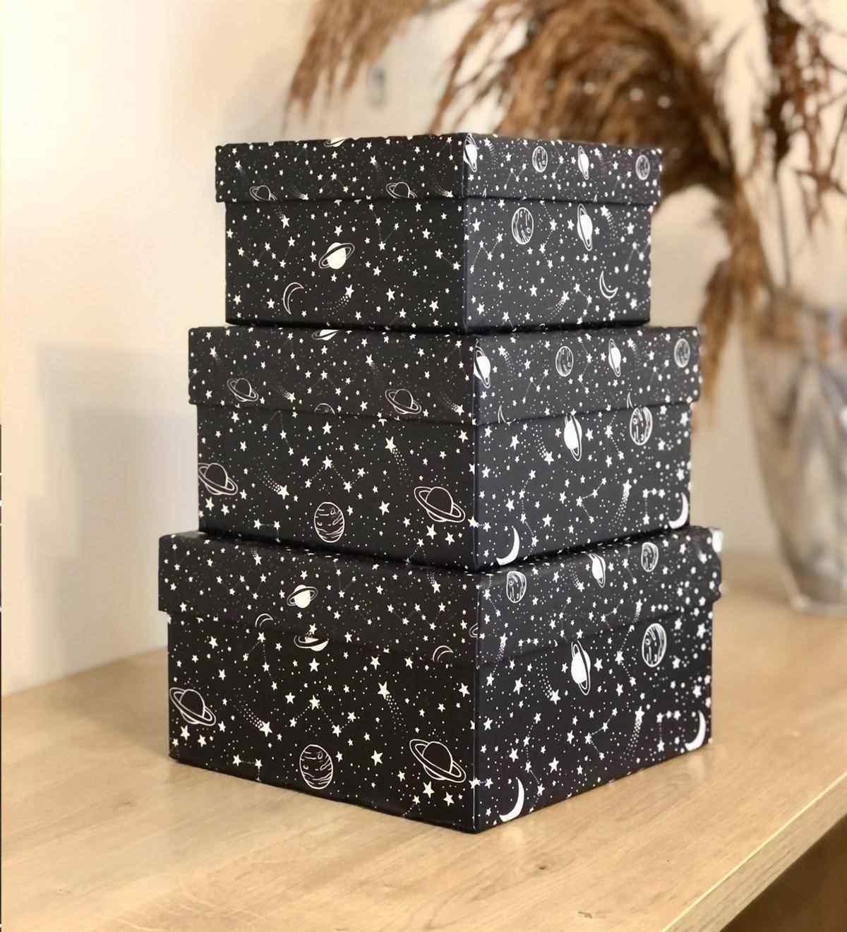 Galaxy Tasarımlı 3lü Kutu
