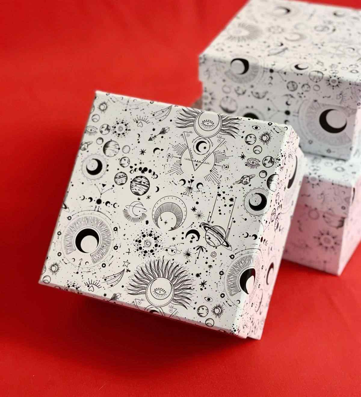 Beyaz Tarot Tasarımlı 3lü Kutu