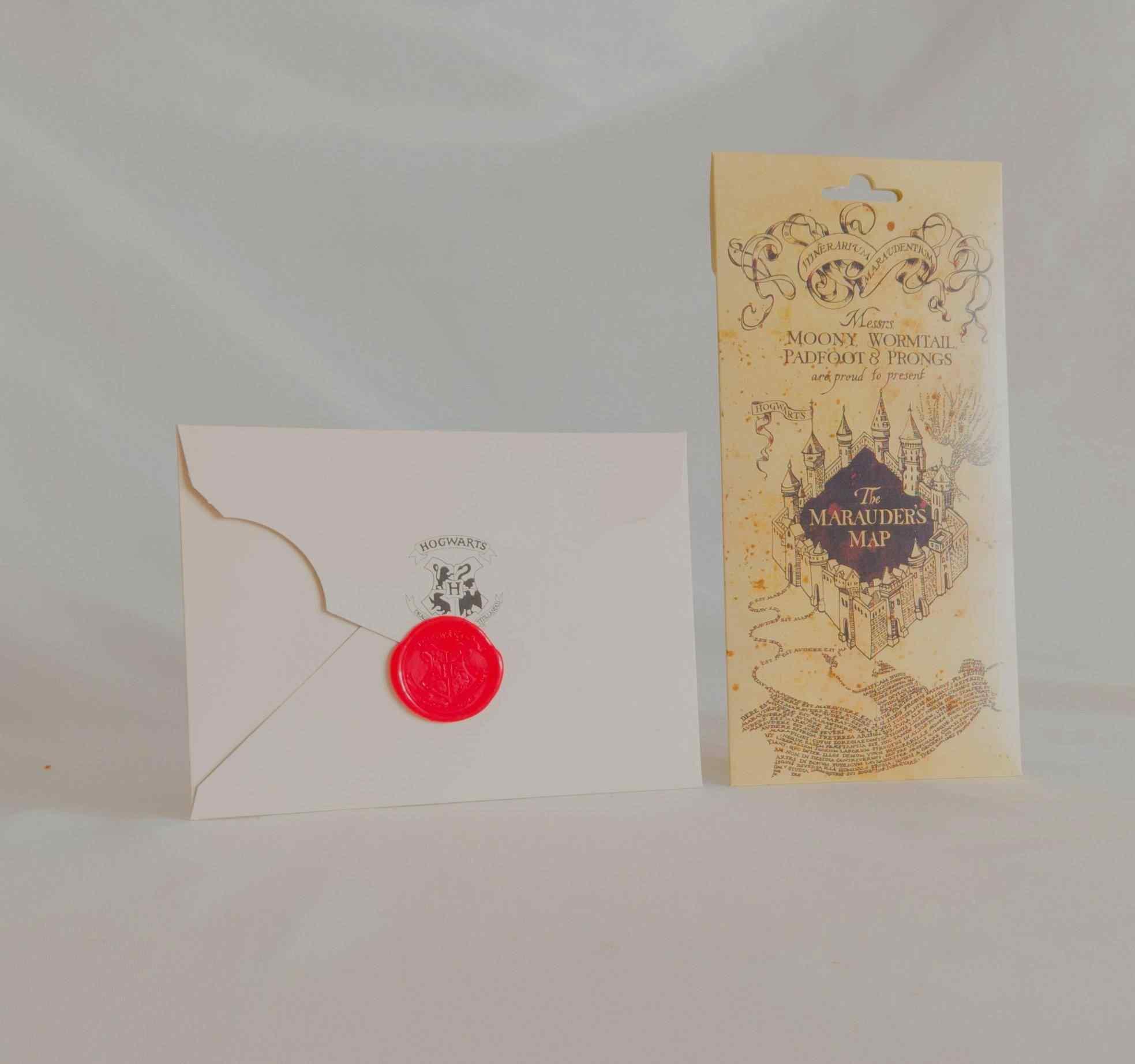 Harry Potter Çapulcu Haritası Ve Davet Mektubu 2Li Arkadaşa Hediye Seti