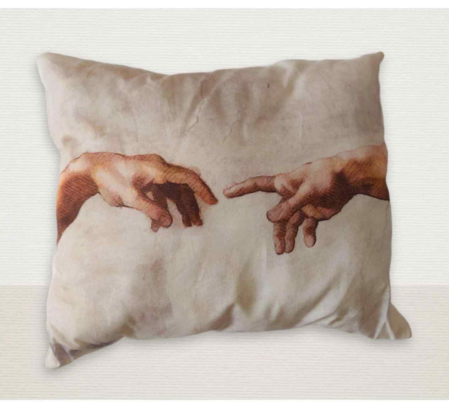 Michelangelo Yaratılış Tasarımlı Yastık