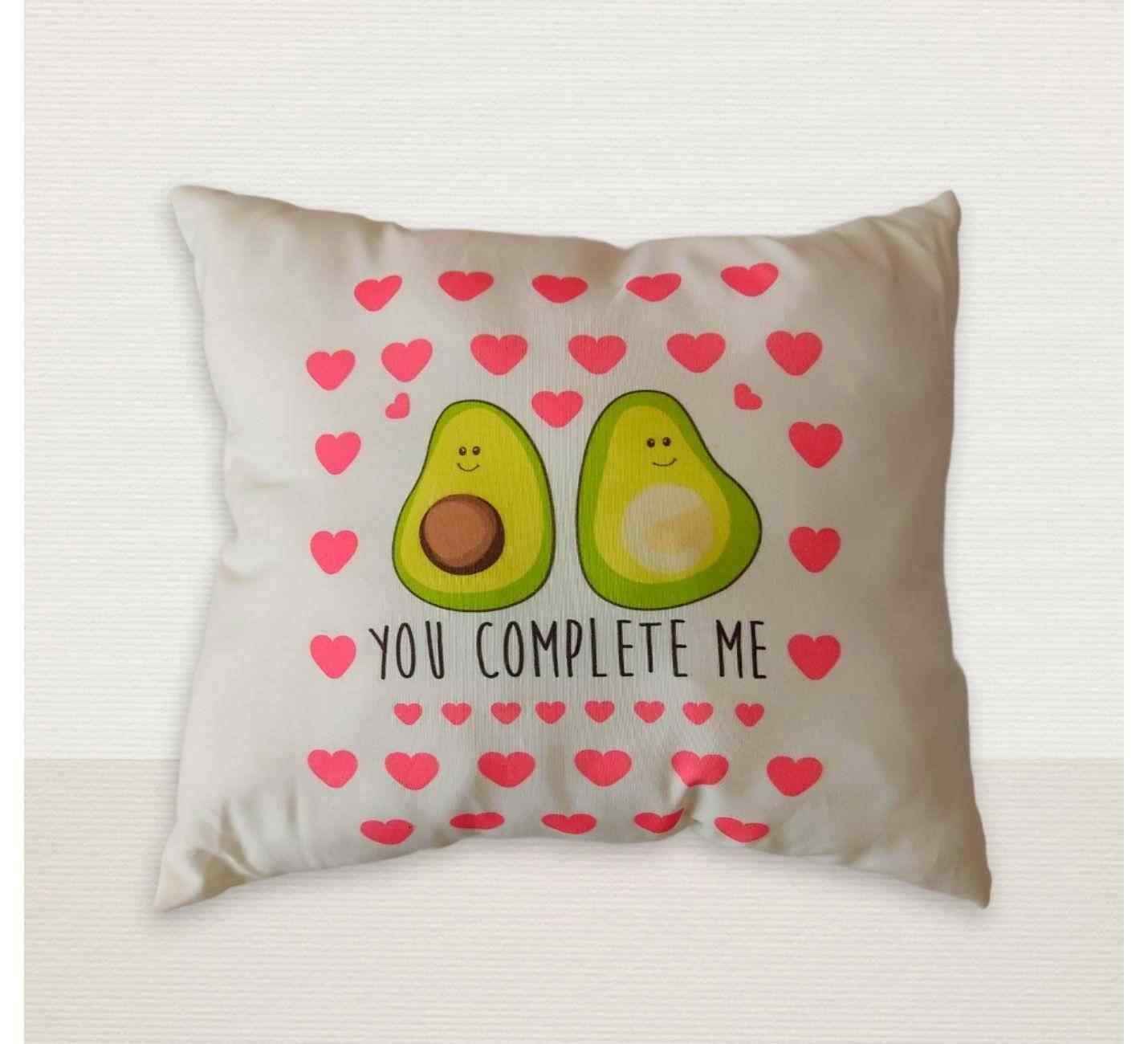 Avokado You Complete Me Tasarımlı Yastık