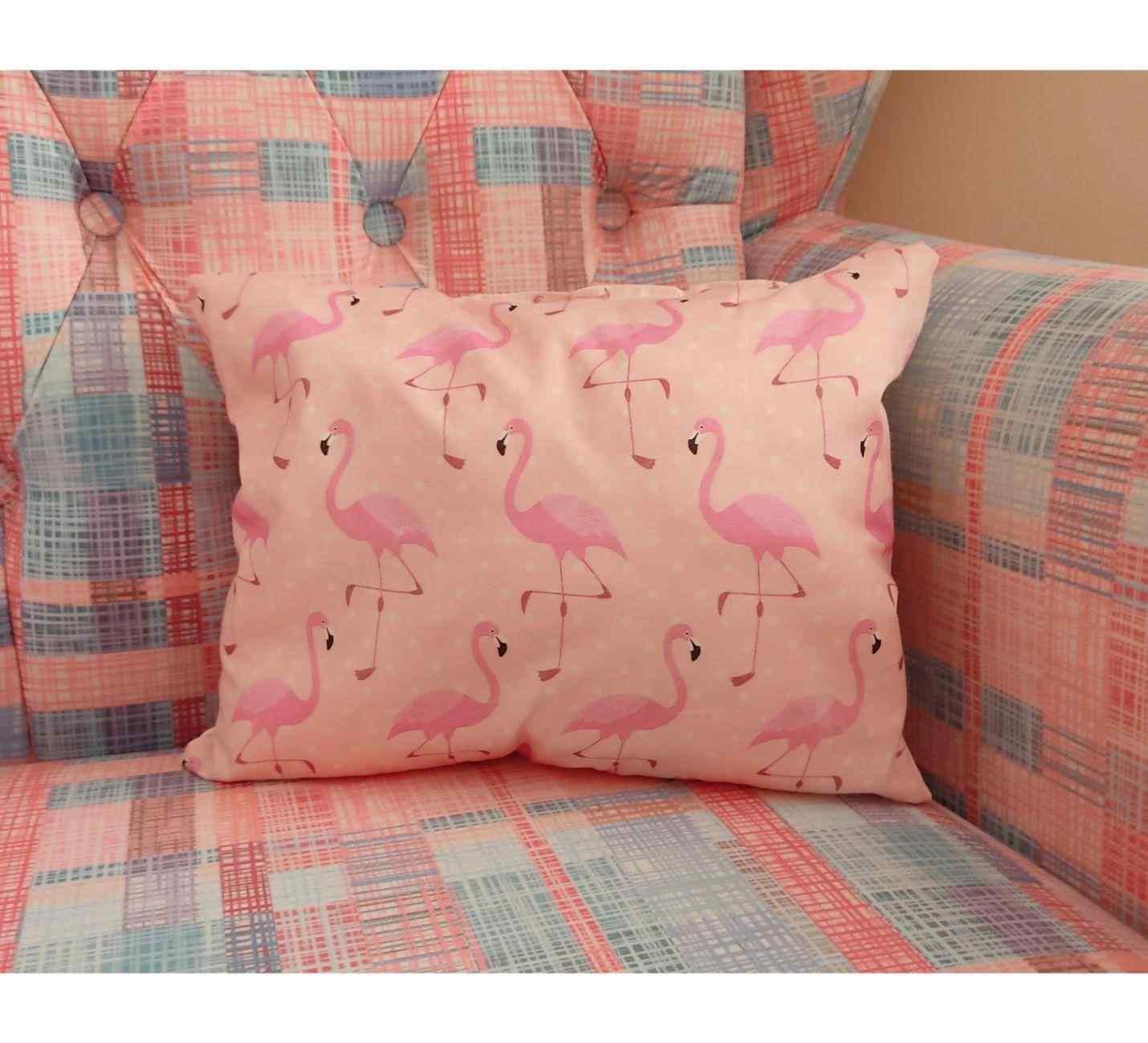 Flamingo Pembe Tasarımlı Yastık