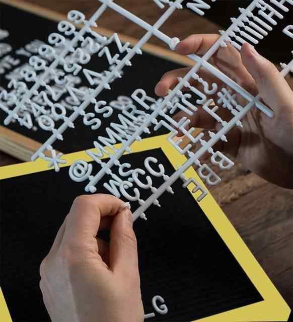 Dekoratif Harfli Mesaj Anı Yazı Panosu