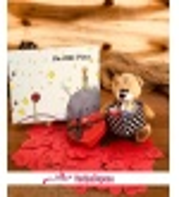 Küçük Prens Kar Küresi Fotoğraf Albümü Ve Konuşan Ayıcık Hediye Seti