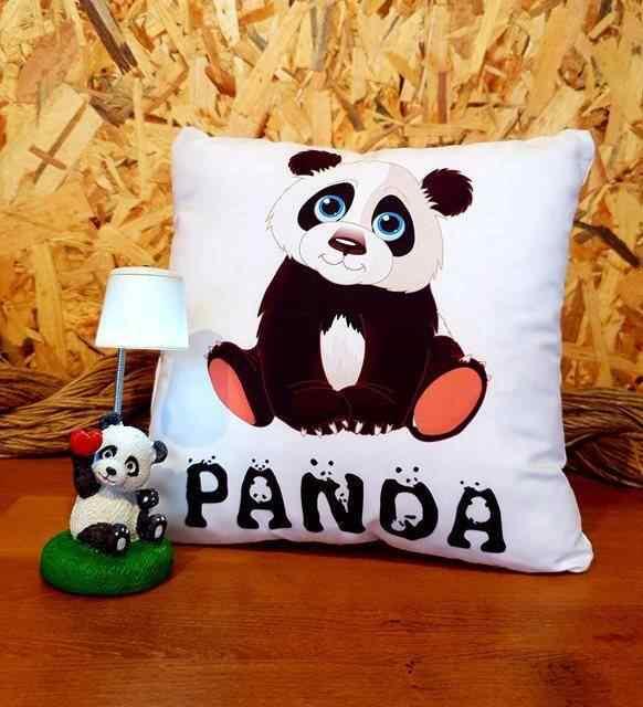 Sevimli Panda Masa Lambası Ve Panda Yastık Arkadaşa Hediye Seti