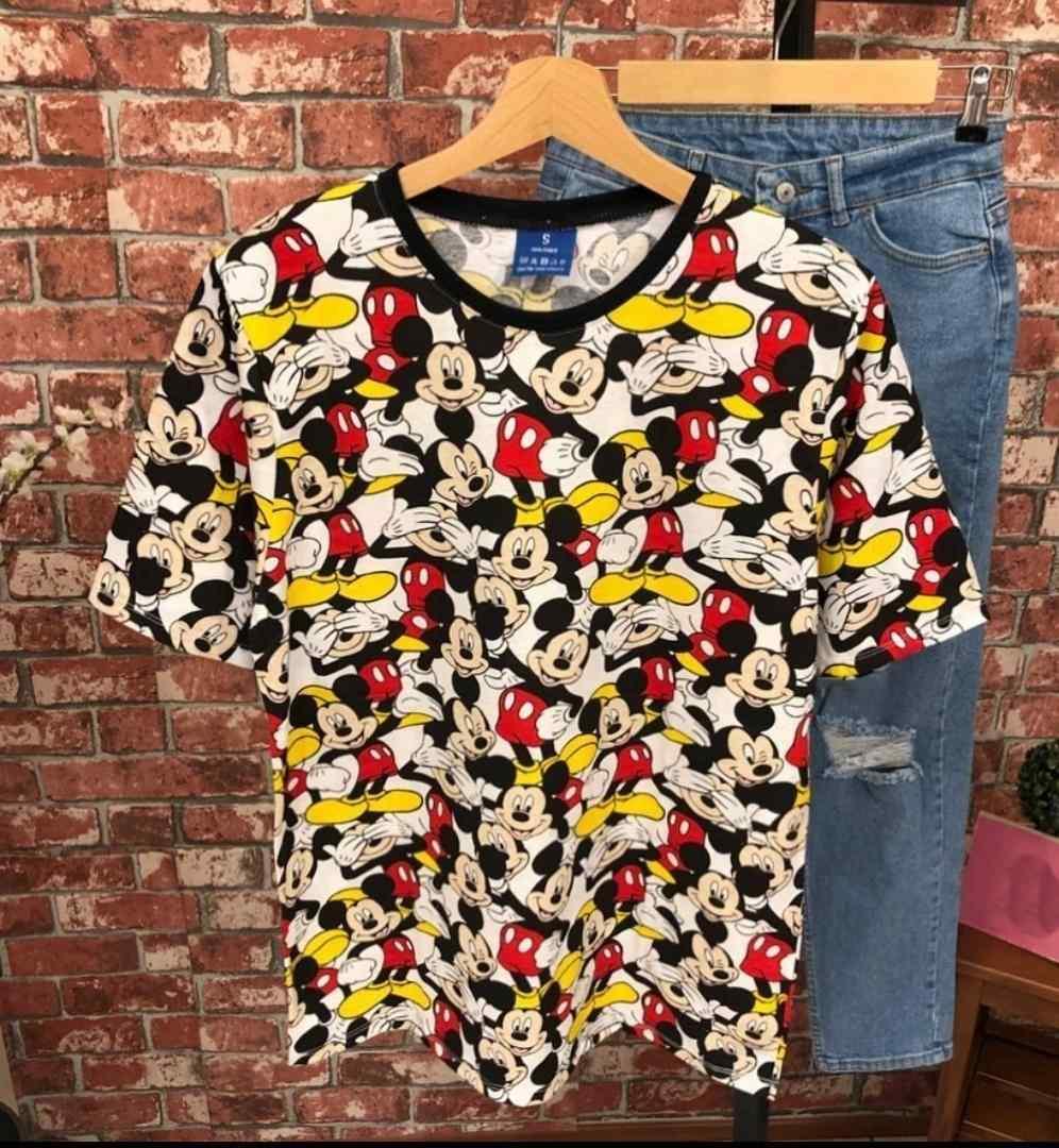 Mickey Mouse Çok Renkli Unisex T-Shirt Tişört