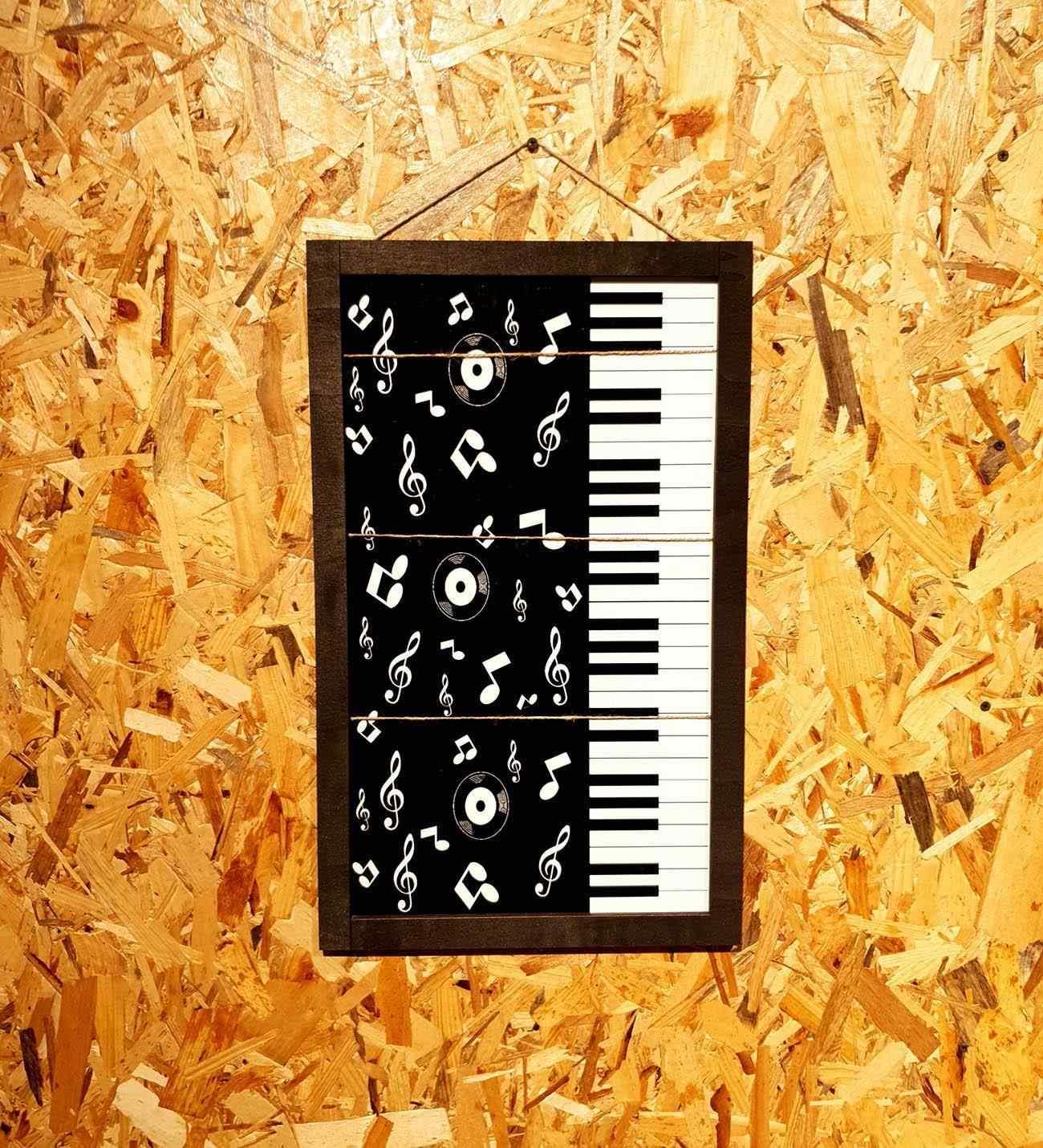 Piyano Özel Tasarım İpli Mandallı Fotoğraf Çerçevesi